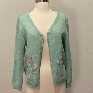 Alfred Dunner Embroidered Cardigan